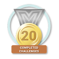 20 Completed Challenges