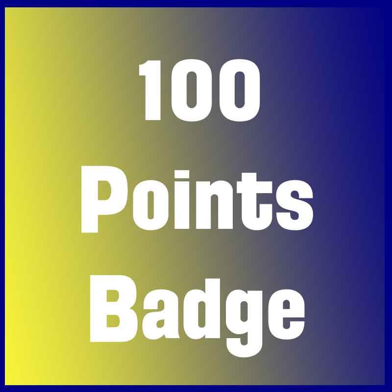100 Points Earned