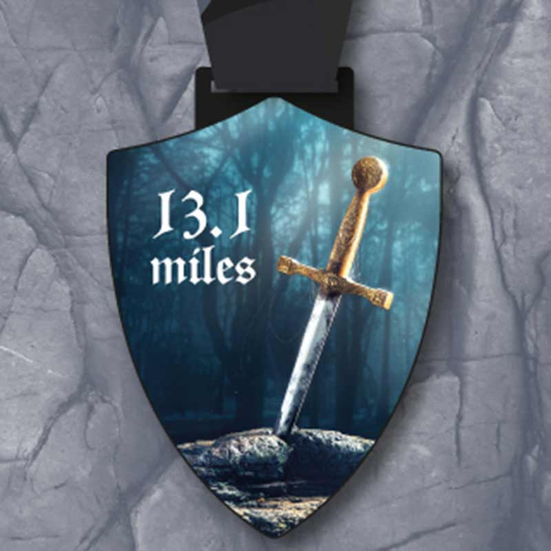Completed the Sword in the Stone 13.1 Miles